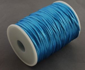 Nylon Rattail Cord - Turquoise (2mm) - 1 metre